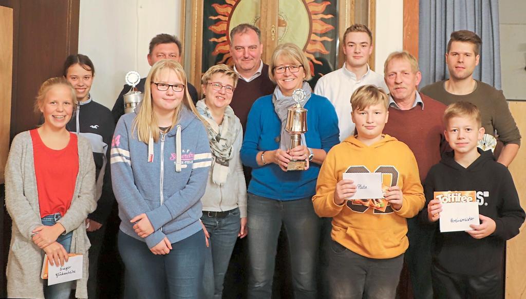 Siegerehrung Vereinsmeisterschaft St. Johanni Bösensell